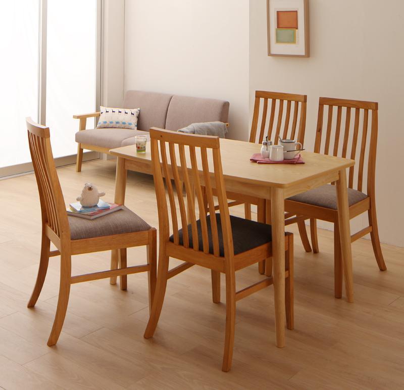 ダイニングセット 5点セット(テーブル+チェア4脚) テーブル幅115cm テーブルカラー:ナチュラル チェアカラー:ミックス ファミリー向け タモ材 ハイバックチェア ダイニング Uranus ウラノス