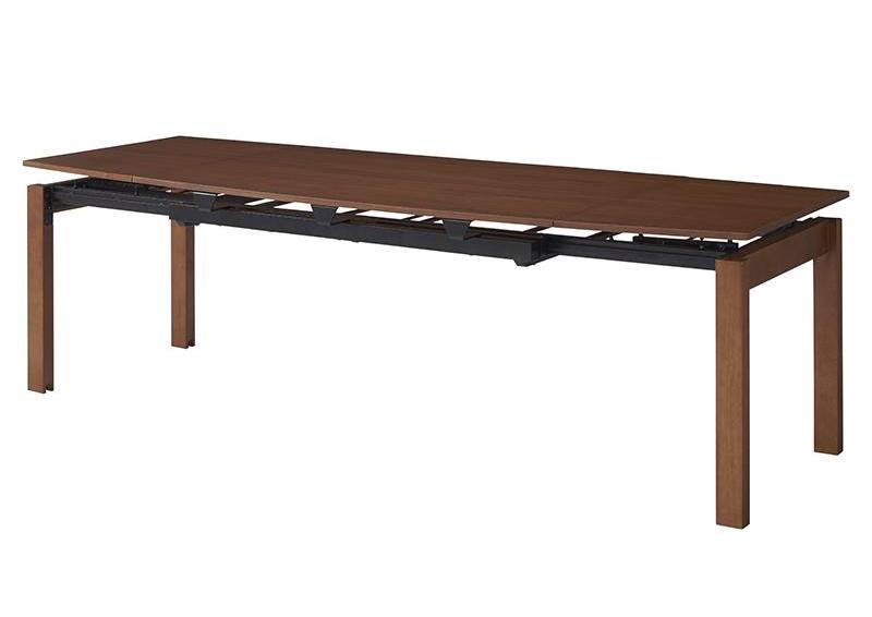 大決算セール 単品 ダイニングテーブル 幅140-240cm ウォールナットブラウン 天然木ウォールナット材 ウォルスター 商い 代引不可 デザイン伸縮ダイニング WALSTER
