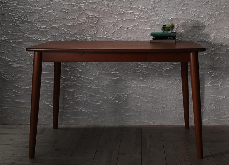 【単品】ダイニングテーブル 幅115cm ブラウン モダンデザインダイニング Le qualite ル・クアリテ