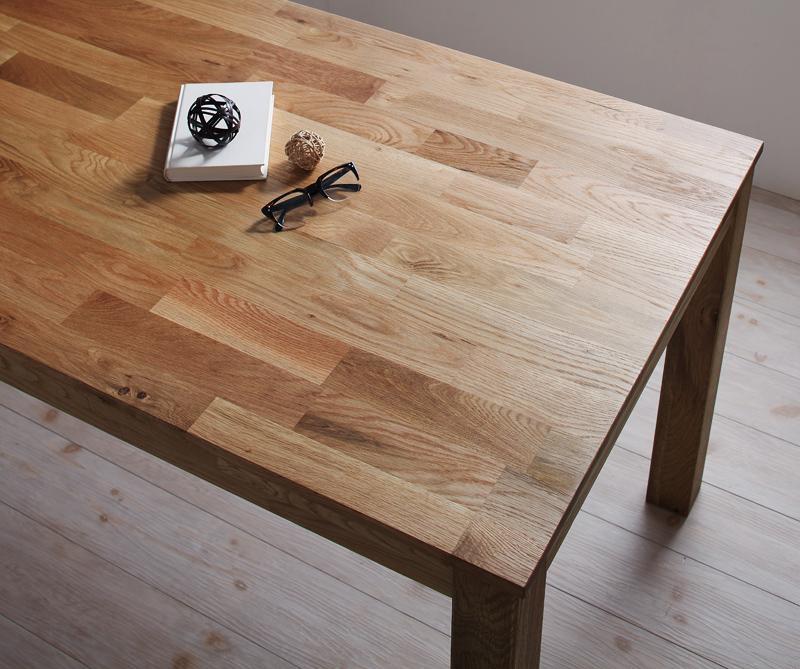 【単品】ダイニングテーブル 幅180cm【Cursus】オークナチュラル 総無垢材ワイドダイニング【Cursus】クルスス【代引不可】