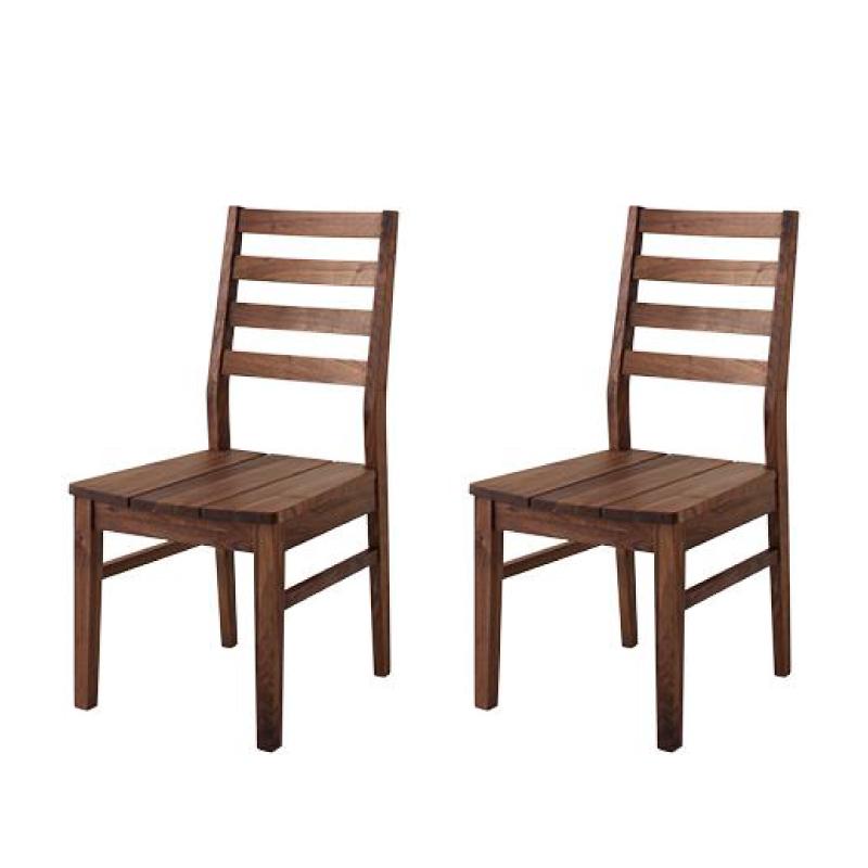 【テーブルなし】チェア2脚セット【Cursus】ウォールナット 板座 総無垢材ワイドダイニング【Cursus】クルスス【代引不可】