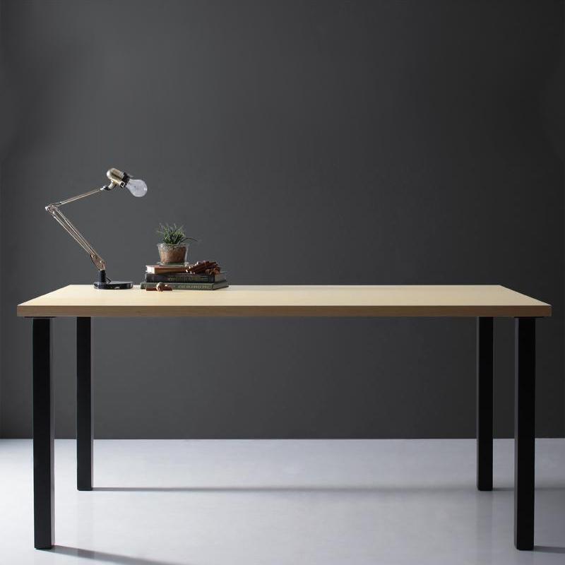 天然木天板 スチール脚 モダンデザインテーブル Gently ジェントリー ナチュラル ストレート脚 W150