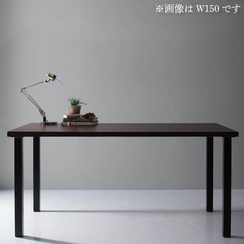 天然木天板 スチール脚 モダンデザインテーブル Gently ジェントリー ブラウン ストレート脚 W120