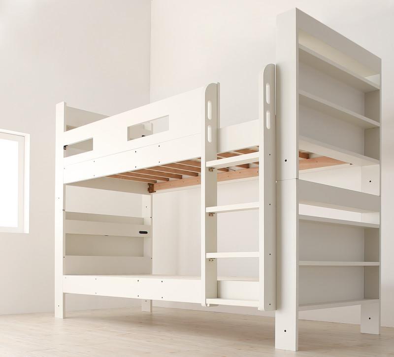 【スーパーSALE限定価格】クイーンサイズベッドにもなるスリム2段ベッド Whenwill ウェンウィル ベッドフレームのみ スタンダード クイーン