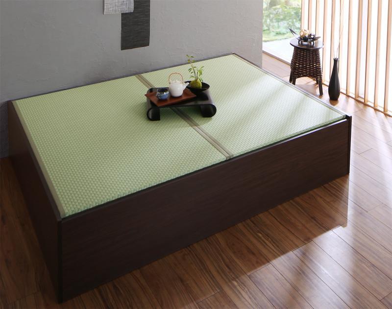 お客様組立 布団が収納できる・美草・小上がり畳ベッド ベッドフレームのみ シングル