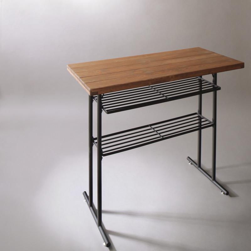 古木風ヴィンテージコンパクトカウンターダイニングセット JAMIE ジェイミー カウンターテーブル W110