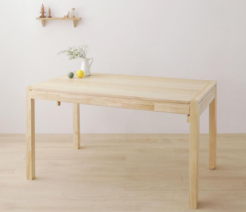 回転イス付き 北欧スライド伸縮ダイニングテーブルセット Joseph ヨセフ ダイニングテーブル W135-235