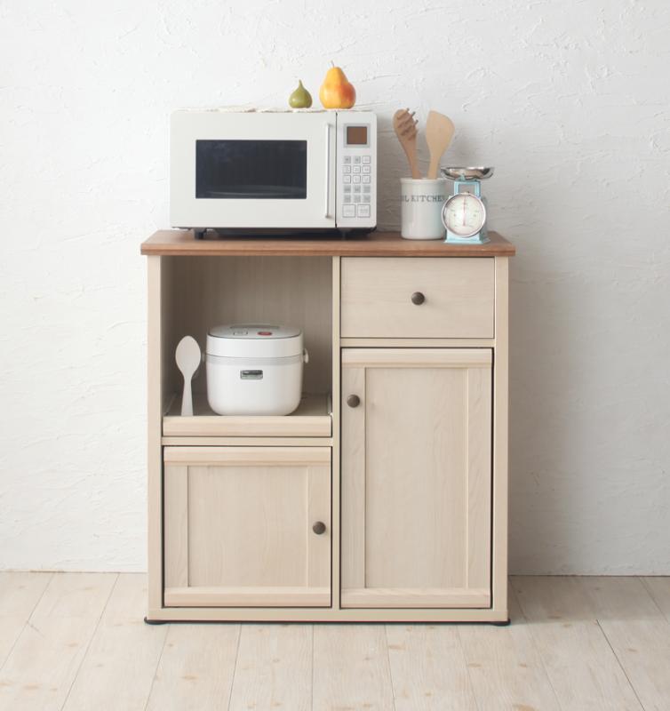 キッチンワゴン 幅80cm【RAPO】カントリー調キッチン収納シリーズ【RAPO】ラポ【代引不可】