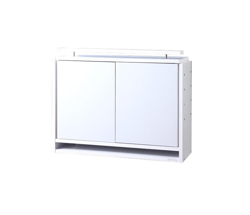 【単品】収納上置 高さ61~94 奥行29 ホワイト コレクションラック ワイド【代引不可】