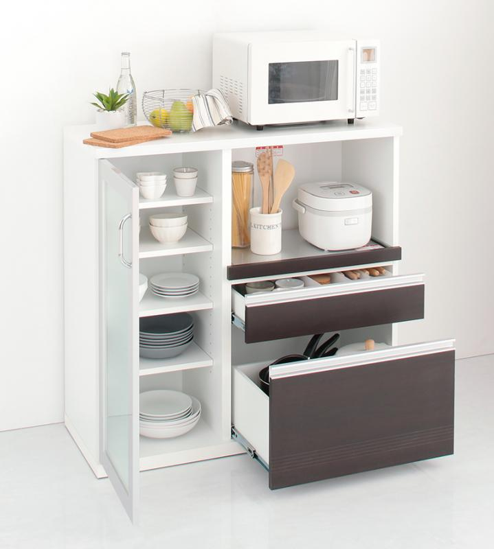 組立設置 奥行41cmの薄型モダンデザインキッチン収納 Sfida スフィーダ カウンター W100