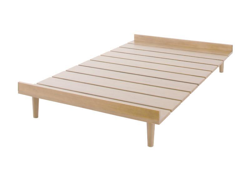 【スーパーSALE限定価格】ベッド セミダブル【Noora】【フレームのみ】 ナチュラル 北欧デザインベッド【Noora】ノーラ【代引不可】