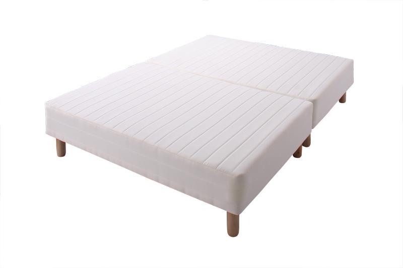 脚付きマットレスベッド シングル 脚15cm 新・移動ラクラク!分割式ボンネルコイルマットレスベッド