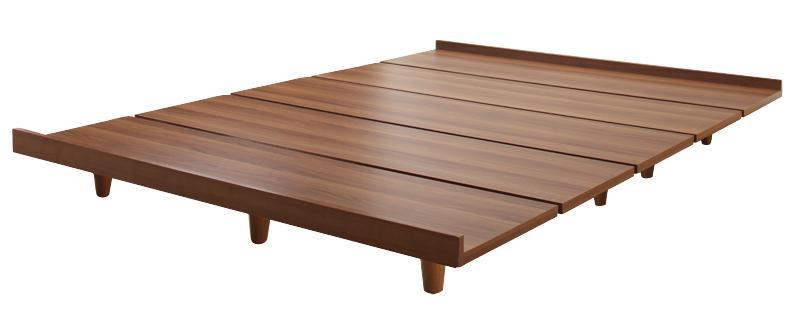 ローベッド シングル 木脚タイプ【Bona】【フレームのみ】フレームカラー:ウォルナットブラウン デザインボードベッド【Bona】ボーナ