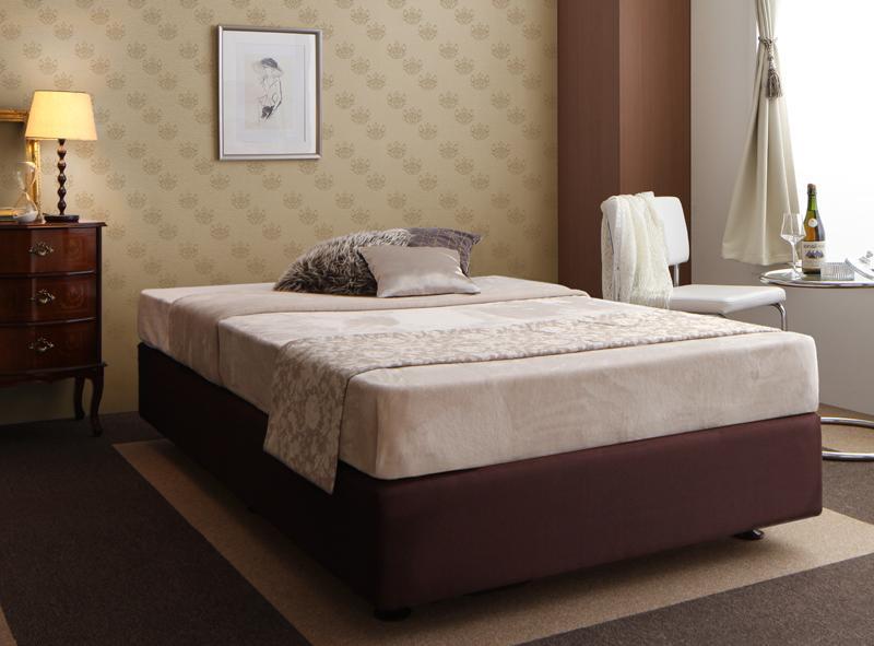 ベッド シングル【日本製ポケットコイルマットレス】ホテル仕様デザインダブルクッションベッド【代引不可】