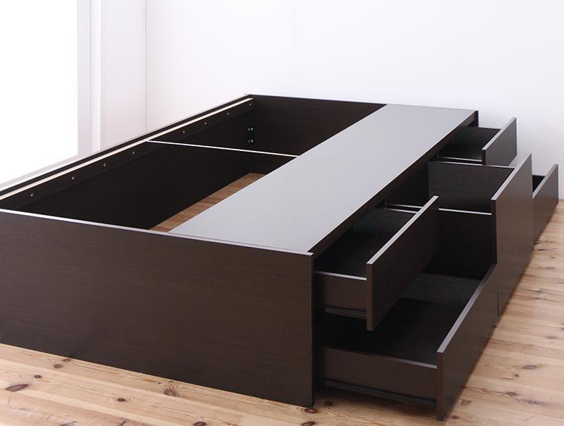 シンプルデザイン_大容量チェストベッド SchranK シュランク ベッドフレームのみ セミダブル