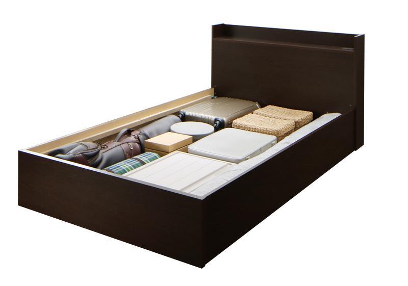 連結 棚・コンセント付収納ベッド Ernesti エルネスティ ベッドフレームのみ すのこ Bタイプ セミダブル