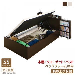 組立設置付 タイプが選べる大容量収納ベッド Select-IN セレクトイン ベッドフレームのみ 跳ね上げ収納 セミシングル 深さラージ