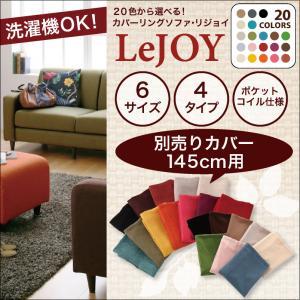 【Colorful Living Selection LeJOY】リジョイシリーズ:20色から選べる!カバーリングソファ・スタンダードタイプ【別売りカバー】幅145cm