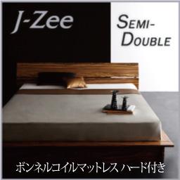 モダンデザインステージタイプフロアベッド【J-Zee】ジェイ・ジー【ボンネルコイルマットレス:ハード付き】セミダブル