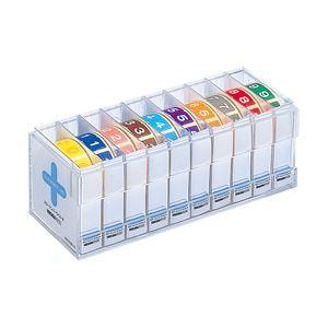 カラーナンバーラベル ロールタイプ アソート HK753Rコミ 10巻(300片x10)