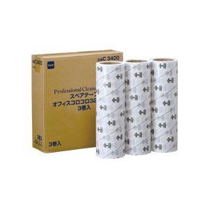 ニトムズ オフィスコロコロ スタンダード スペアテープ 幅320mm×40m巻 C3400 1パック(3巻)