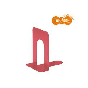 (まとめ)TANOSEE ブックエンド T型 特大 コーラルレッド(赤) 20組
