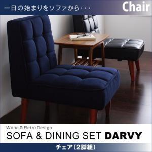 【テーブルなし】チェア2脚セット バイキャストブラック 【DARVY】ダーヴィ/チェア(2脚組)