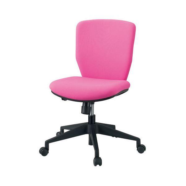 プラス 事務イス(オフィスチェア/OAチェア) KC-CL66SL 肘なし ピンク