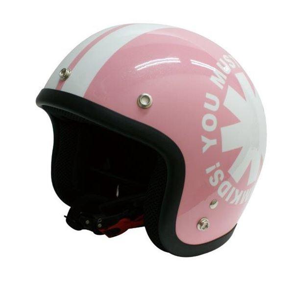 ダムトラックス(DAMMTRAX) Jrサイズヘルメット ポポウィール ピンク (54cm~57cm未満)