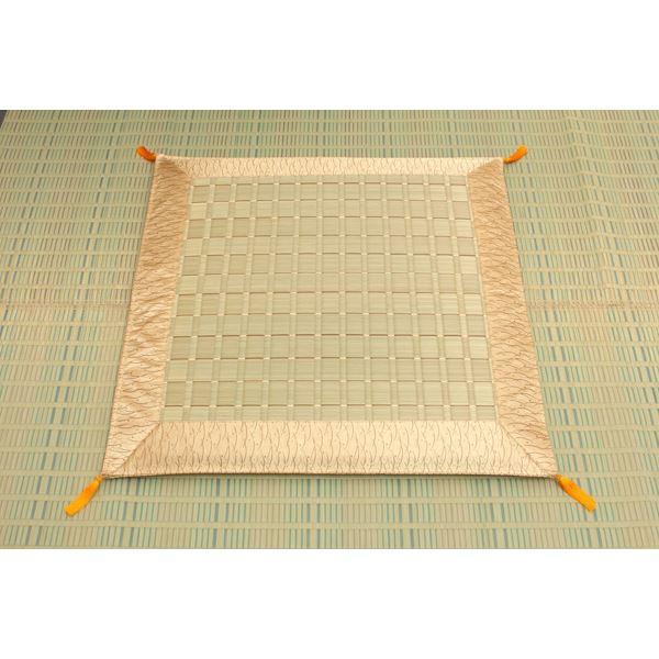 純国産/日本製 掛川織 い草御前(仏前)座布団 『古代』 約70×70cm