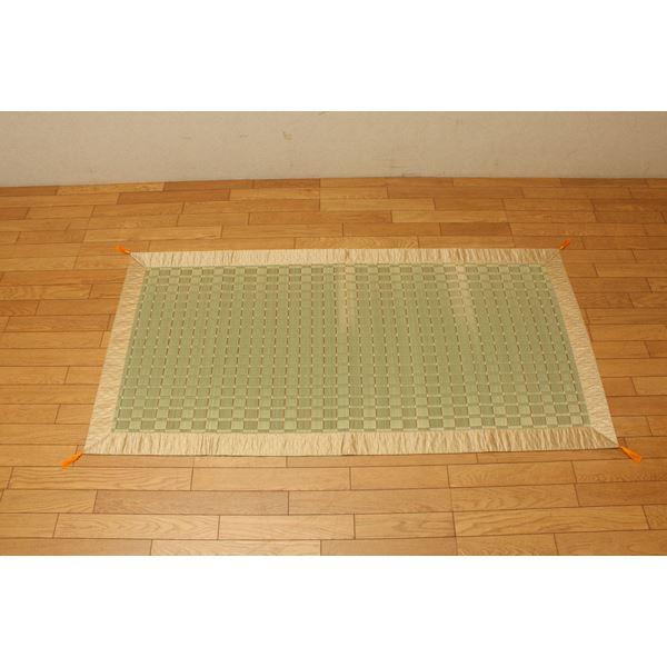 純国産/日本製 掛川織 い草御前(仏前)ござ 約88×176cm 古代