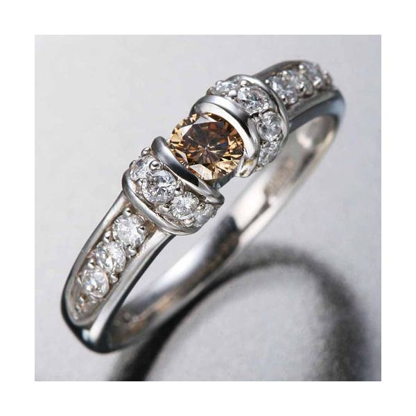 K18WGダイヤリング 指輪 ツーカラーリング 9号