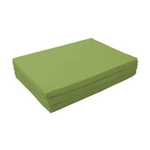 マットレス オリーブグリーン ダブル 厚さ6cm 新20色 厚さが選べるバランス三つ折りマットレス【代引不可】