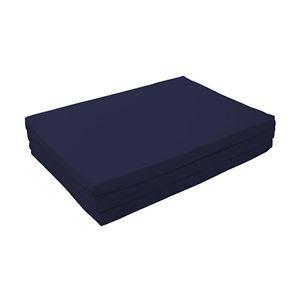 マットレス ミッドナイトブルー ダブル 厚さ6cm 新20色 厚さが選べるバランス三つ折りマットレス【代引不可】