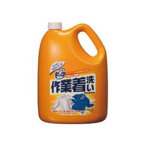 (まとめ)液体ビック作業着洗い 業務用 4.5kg 4個