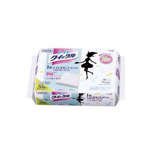 贈答品 洗剤 衛生用品 日本正規代理店品 トイレ用洗剤 トイレ用クリーナー 詰替用ジャンボパック トイレクイックル まとめ 20枚入×12個
