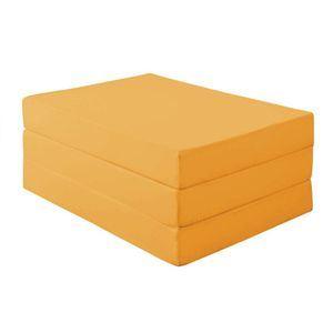 マットレス ダブル 厚さ12cm サニーオレンジ 新20色 厚さが選べるバランス三つ折りマットレス【代引不可】
