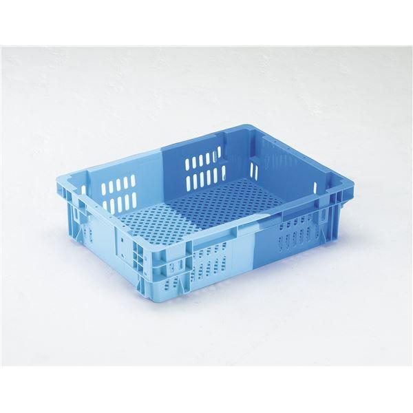 【5個セット】 業務用コンテナボックス/食品用コンテナー 【NF-M26L】 ダークブルー/ブルー 材質:PP【代引不可】