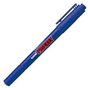 (業務用300セット) 三菱鉛筆 水性ペン/プロッキーツイン 【細字/極細】 水性顔料インク PM-120T.33 青