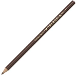 (業務用50セット) 三菱鉛筆 色鉛筆 K880.21 茶 12本入