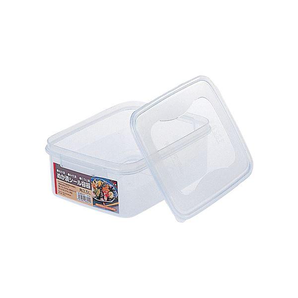 【20セット】 ぬか漬けシール容器/漬物用品 【角3.5L】 クリア 〔キッチン用品 家庭用品 手づくり〕【代引不可】