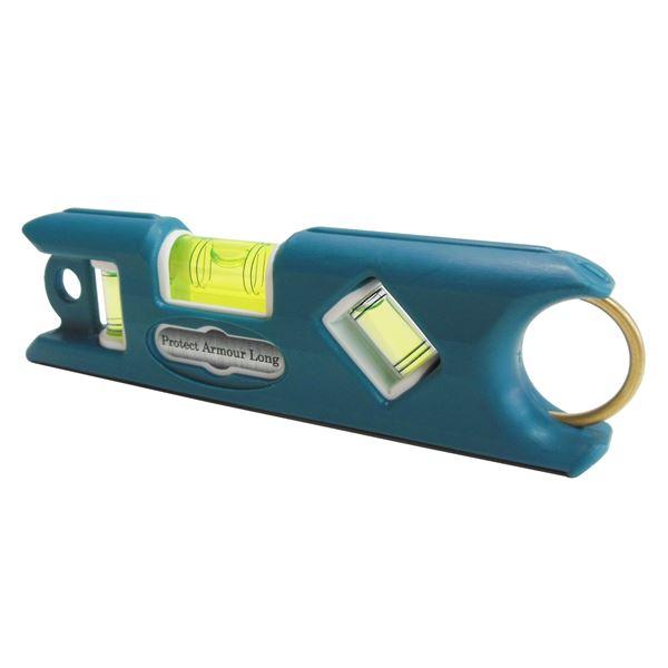 (業務用10個セット) KOD プロテクトアーマー ロング水平器/レベル 【ブルー】 一体型成型 PALS-MA