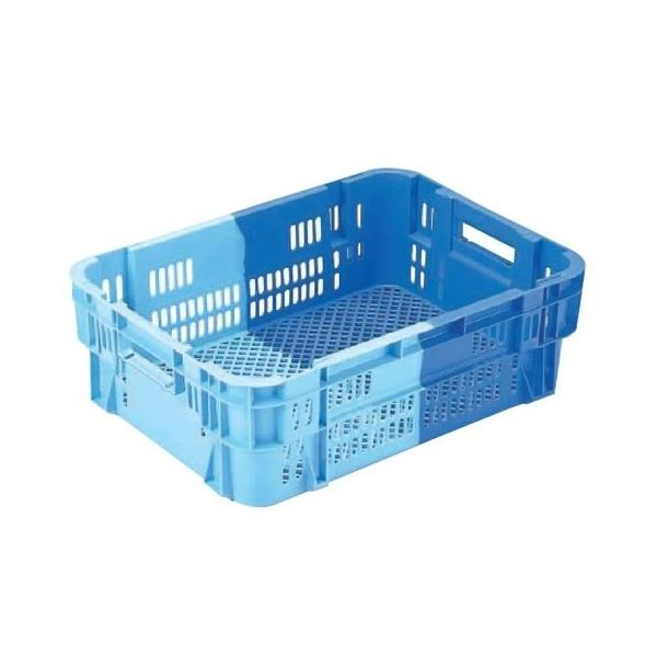 【5個セット】 業務用コンテナボックス/食品用コンテナー 【NF-M40】 ダークブルー/ブルー 材質:PP【代引不可】