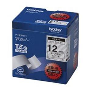 (業務用5セット) brother ブラザー工業 文字テープ/ラベルプリンター用テープ 【幅:12mm】 5個入り TZe-131V 透明に黒文字