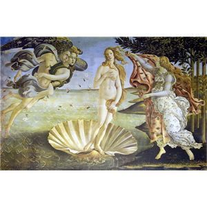 世界の名画シリーズ、プリハード複製画 サンドロ・ボッティチェルリ作 「ヴィーナスの誕生」【代引不可】