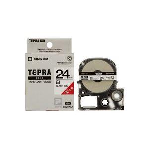 【スーパーSALE限定価格】(業務用20セット) キングジム テプラ PROテープ/ラベルライター用テープ 【24mm】 ロングタイプ SS24KL ホワイト(白)