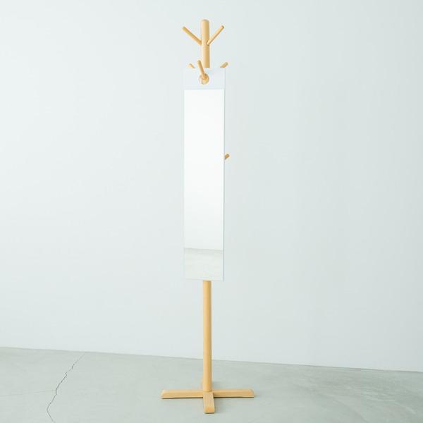 【4枚セット】フックミラー(100) (ホワイト/白) 幅20cm×高さ100cm ウォールミラー/壁掛け/鏡/飛散防止加工/日本製/省スペース/スリム/業務用/完成品/NK-1000