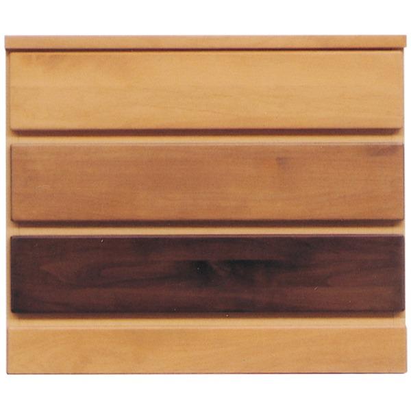 3段チェスト/リビングチェスト 【幅60cm】 木製(天然木) 日本製 ナチュラル 【LOVE】ラブ 【完成品】【代引不可】