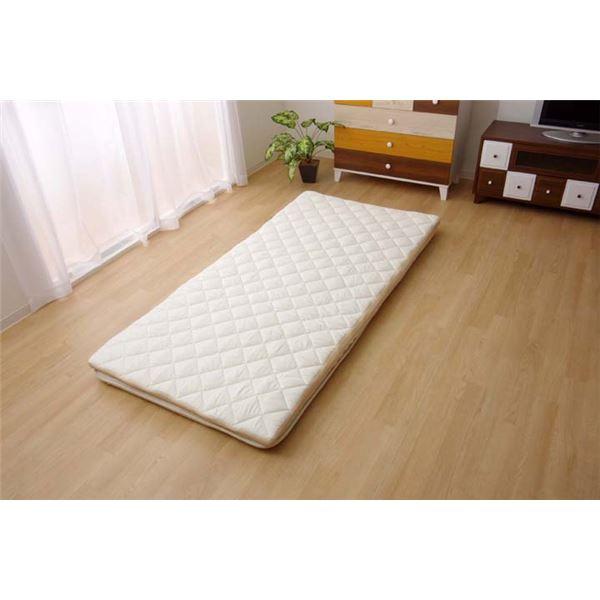 敷布団 シングル 寝具 洗える 無地 高反発 『V-lapノーマル』 約95×200cm