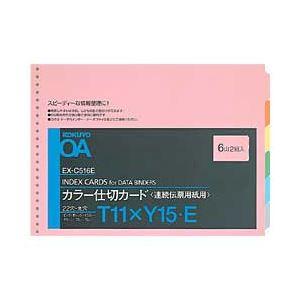 (業務用セット) コクヨ 連続伝票用紙用仕切カード(22穴) 2組入 縦11×横15インチ 【×10セット】